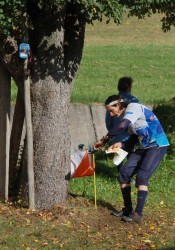 jSh.Radio at an orienteering control